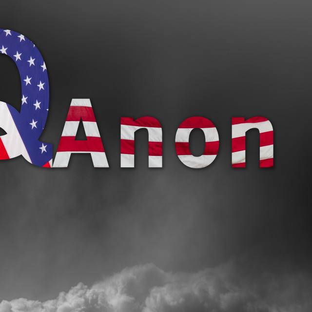 """""""Q Anon deep state conspiracy concept"""" stock image"""