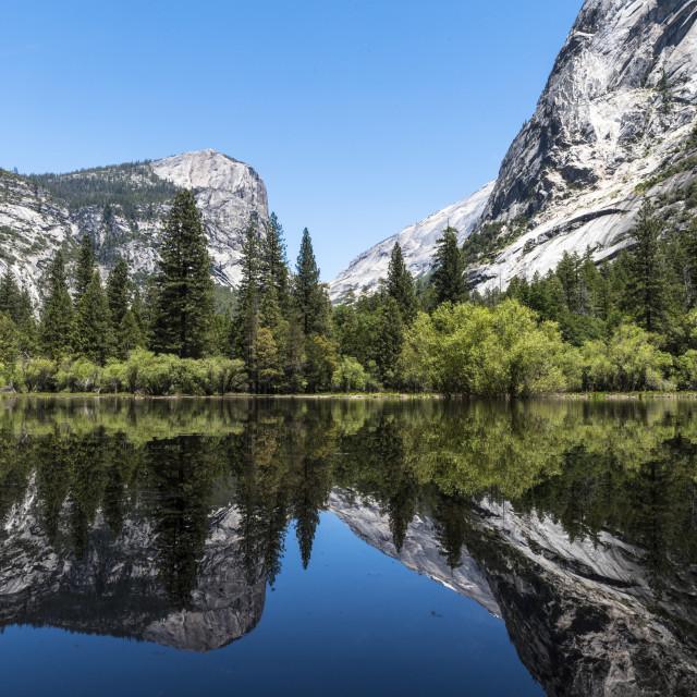 """""""Mirror Lake, Yosemite"""" stock image"""