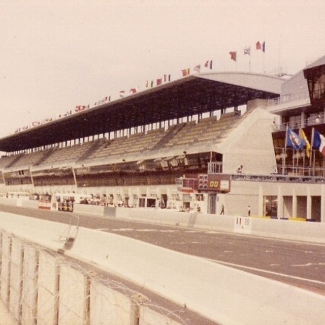 """""""Le Mans Pit Straight 1992"""" stock image"""
