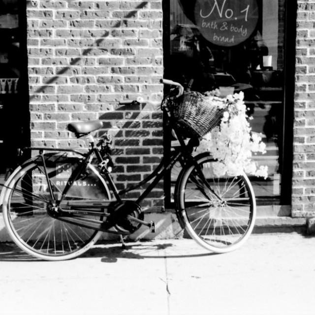 """Bike Parked"" stock image"