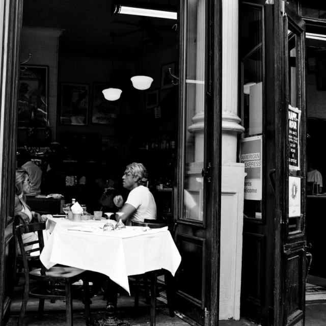 """Cafe Dining in Soho"" stock image"