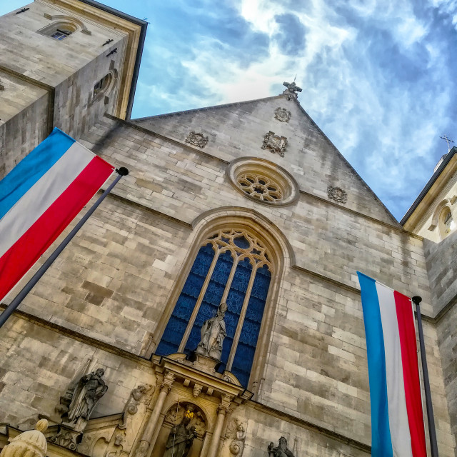 """Notre Dame Cathedral, Luxembourg City (Cathédrale Notre-Dame)"" stock image"