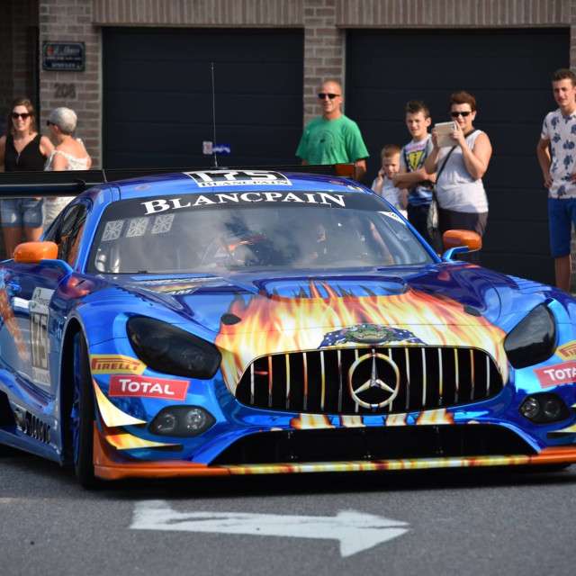 """""""Mercedes AMG GT3"""" stock image"""