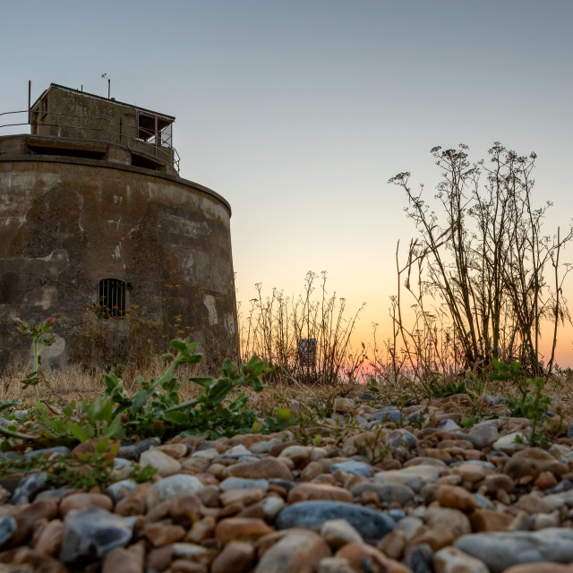 """Martello Tower at Langney Point, Eastbourne"" stock image"