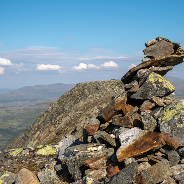 """Top cairn"" stock image"