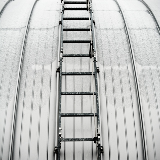 """""""Up The Ladder"""" stock image"""