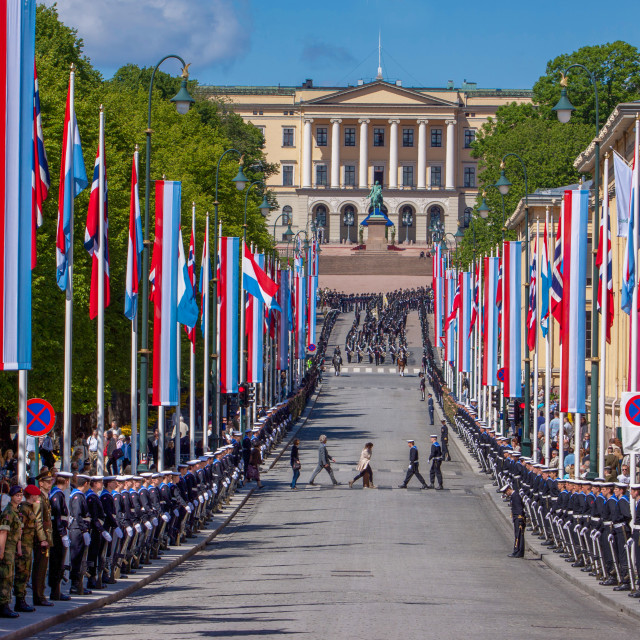 """""""National day in Oslo Norway"""" stock image"""
