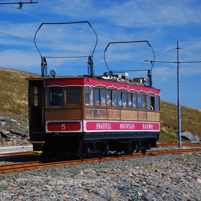 """Snaefell Mountain Railway"" stock image"