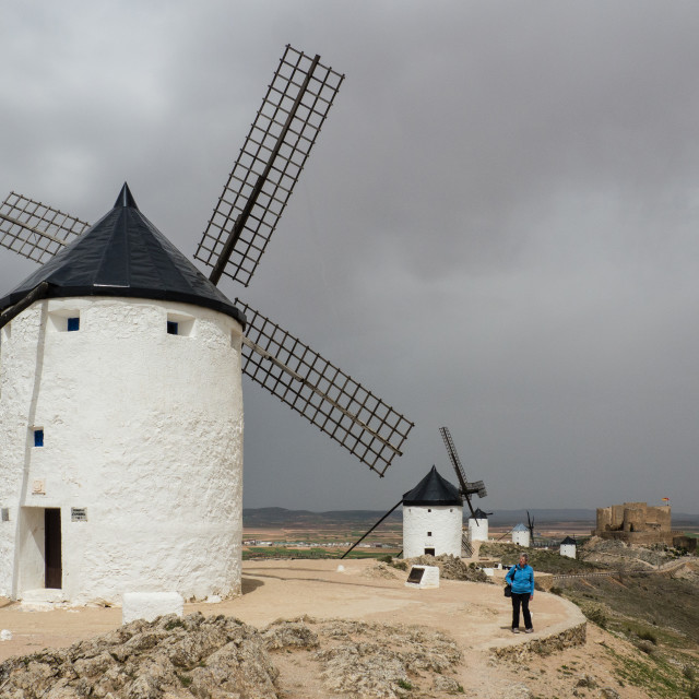 """Windmills of Consuegra, Spain"" stock image"
