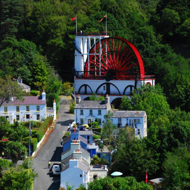 """Laxey Wheel"" stock image"