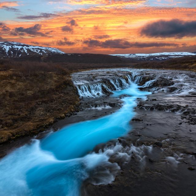 """Bruarfoss Waterfall"" stock image"