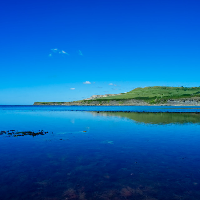 """The view from Kimmeridge Bay"" stock image"