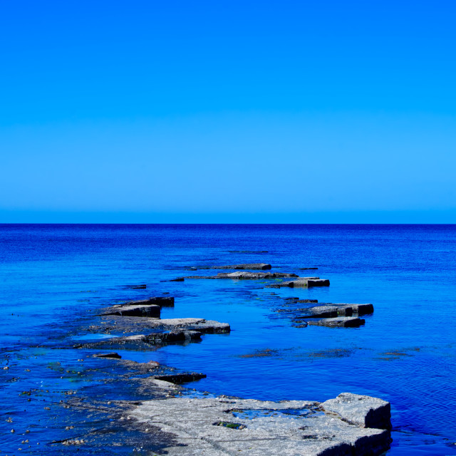"""""""Mother nature's jetty"""" stock image"""