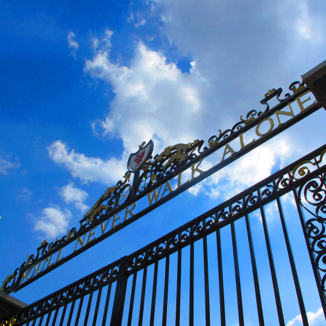 """""""You'll Never Walk Alone - Shankly Gates"""" stock image"""