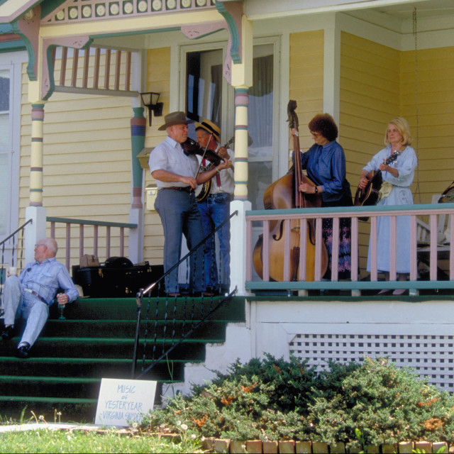 """Front Porch Jam Session"" stock image"