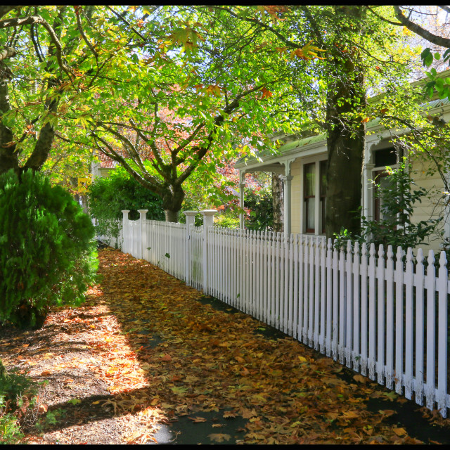 """""""The Picket Fence"""" stock image"""