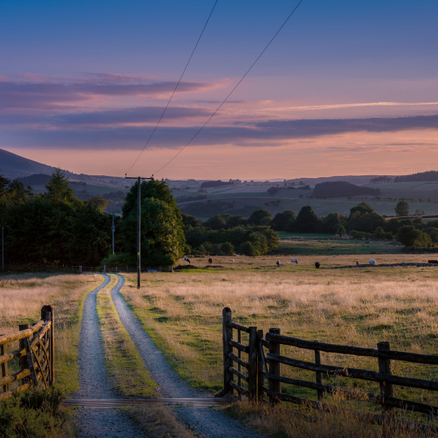 """Sunset at Stiperstones"" stock image"
