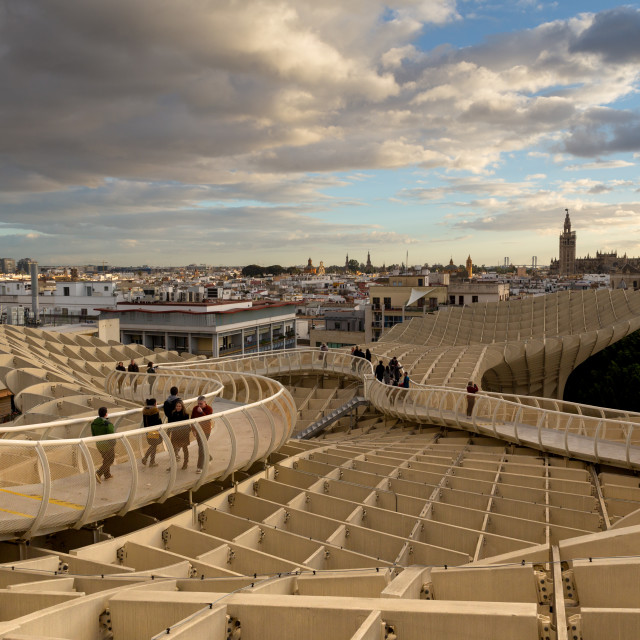 """top of the Parasol Metropol, Seville"" stock image"