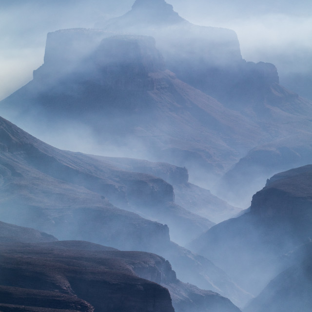 """Smoke in the Grand Canyon"" stock image"