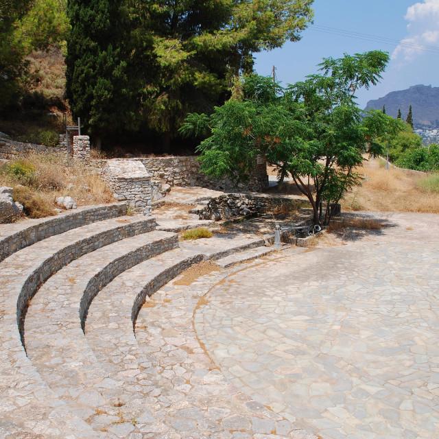 """Cave of Charkadio amphitheatre on Tilos"" stock image"