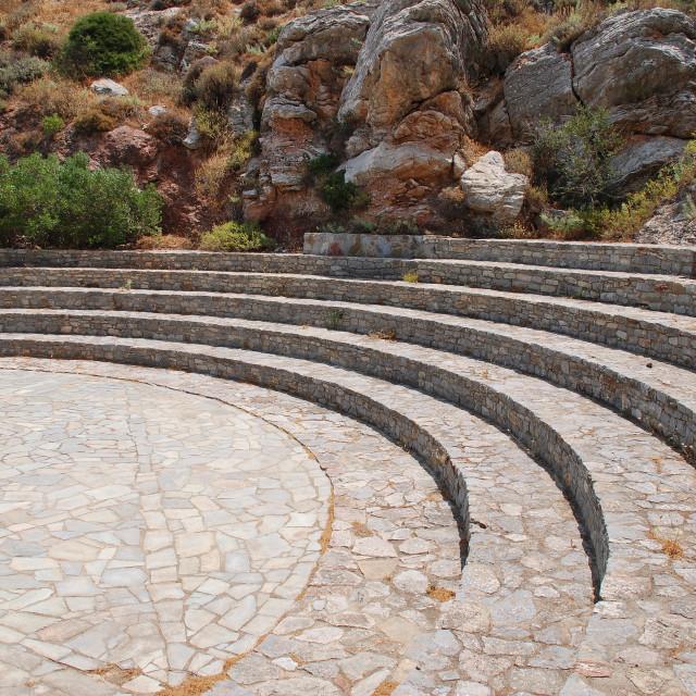 """Cave of Charkadio amphitheatre, Tilos"" stock image"