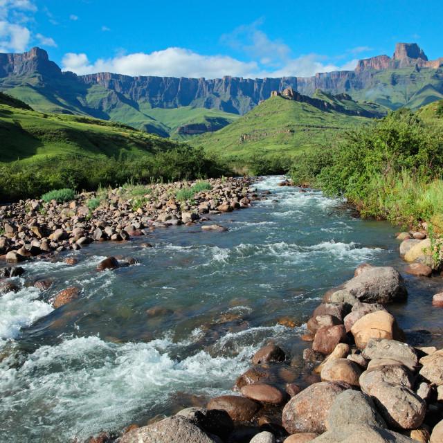 """Drakensberg mountains"" stock image"