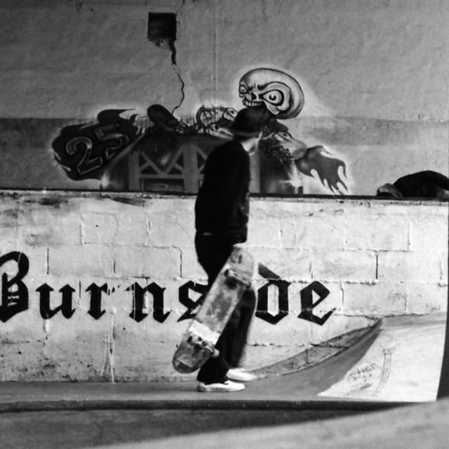 """""""Burnside Skate Park"""" stock image"""