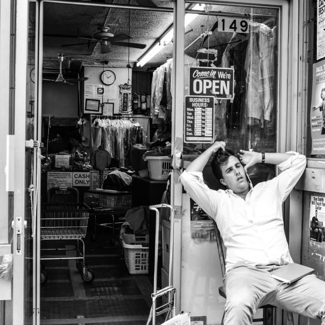 """The Laundromat"" stock image"