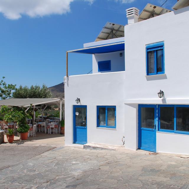 """Megalo Chorio village on Tilos"" stock image"