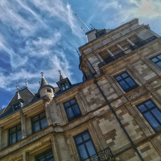 """The Grand Duke's Palace, Luxembourg City"" stock image"