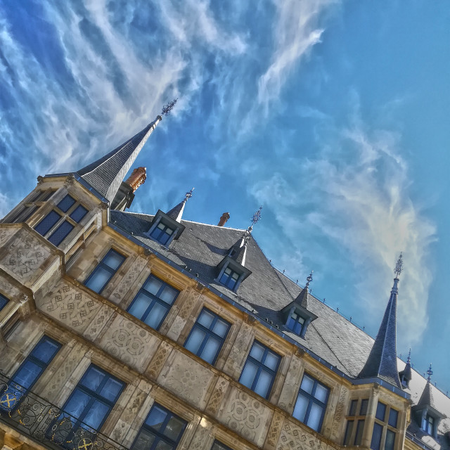 """The Grand Duke's Palace, Luxembourg City."" stock image"