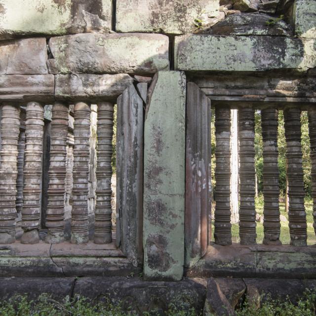 """CAMBODIA SRA EM PRASAT KOH KER KHMER TEMPLE"" stock image"