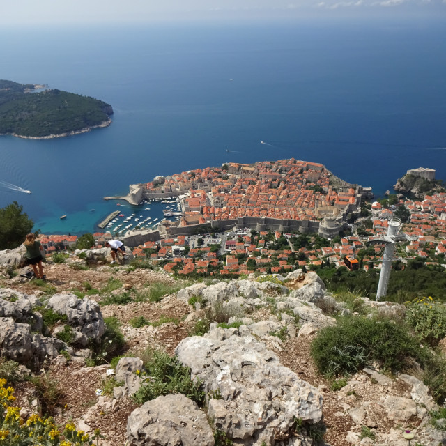 """View of Dubrovnik Old Town"" stock image"