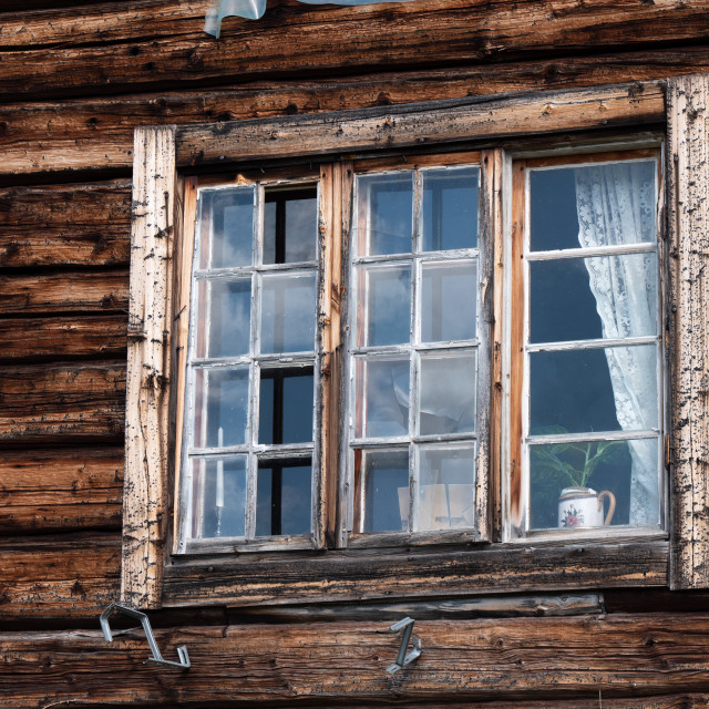 """Old house window"" stock image"