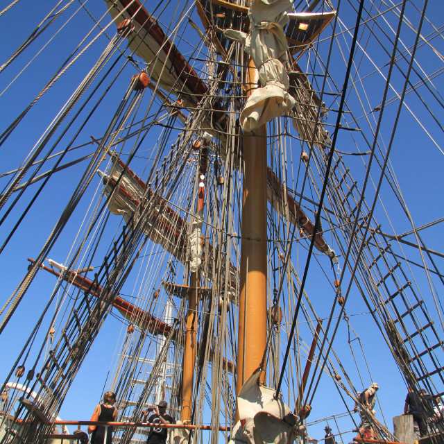 """Tall Ship Rigging"" stock image"