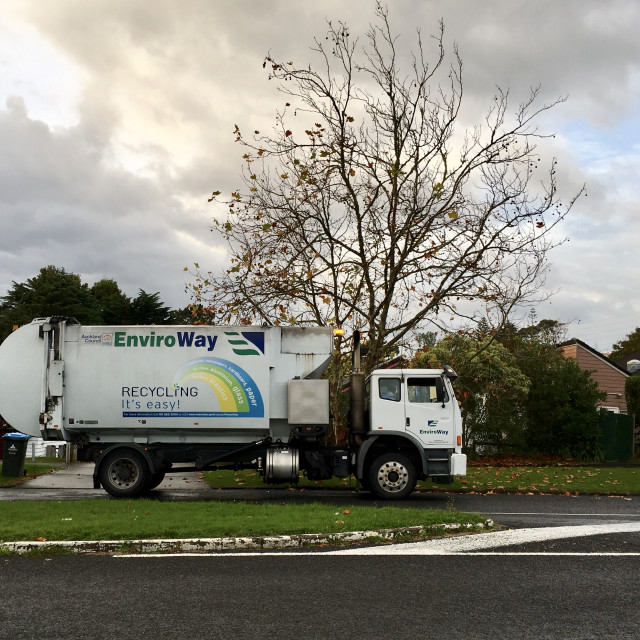 """""""Recycling Truck New Zealand"""" stock image"""