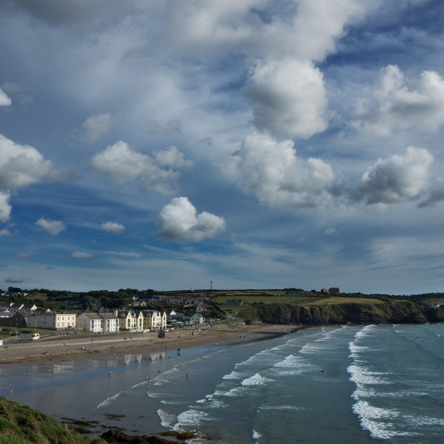 """""""Broad Haven North"""" stock image"""