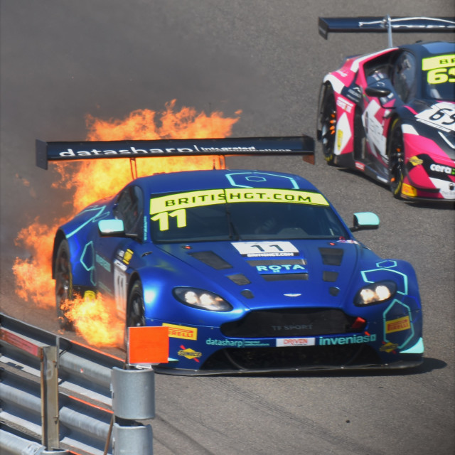 """Aston Martin Fire"" stock image"