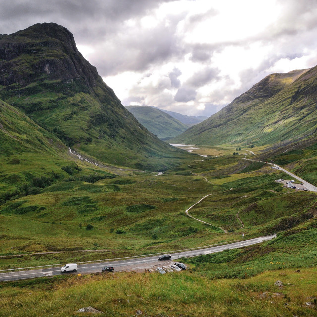"""The A82 road through Glencoe"" stock image"