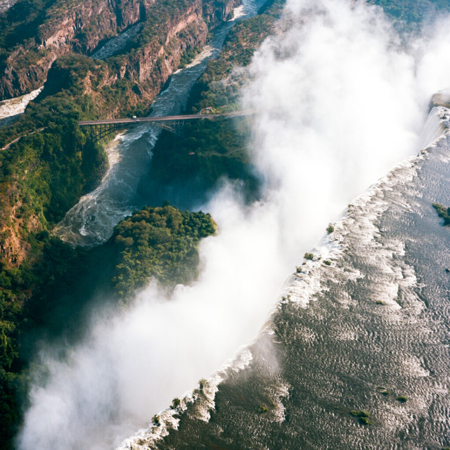 """Victoria Falls, Zimbabwe"" stock image"