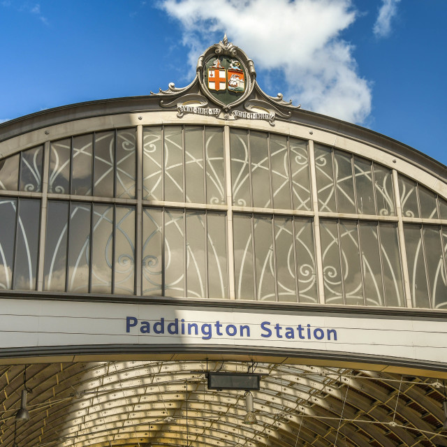 """London Paddington Railway Station"" stock image"