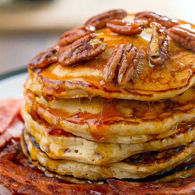 """""""American Pancakes"""" stock image"""