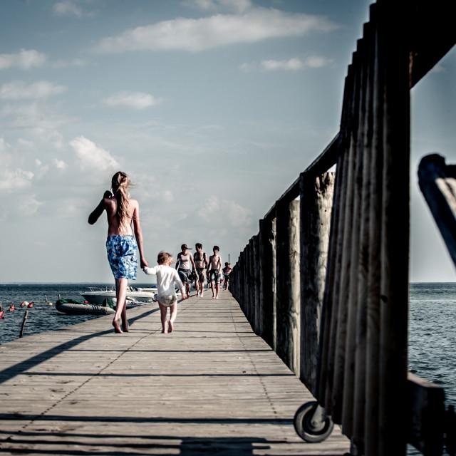 """The Long Walk"" stock image"
