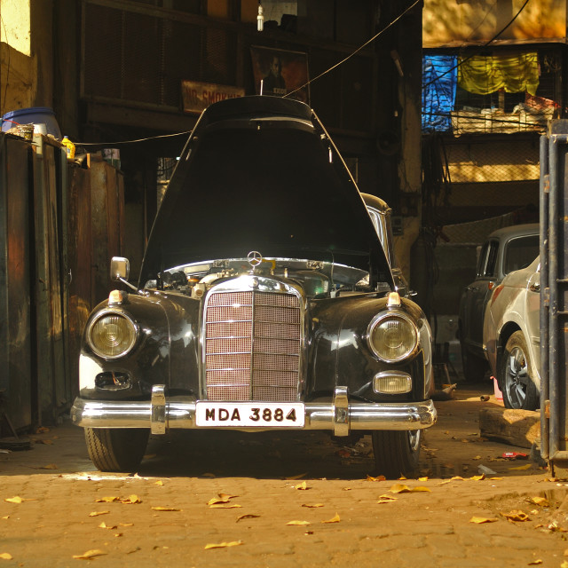 """Mercedes in Mumbai"" stock image"