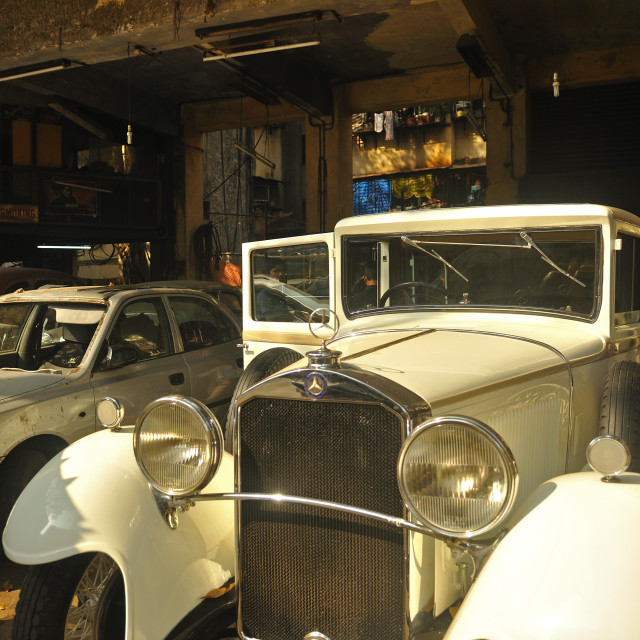 """Vintage Benz"" stock image"