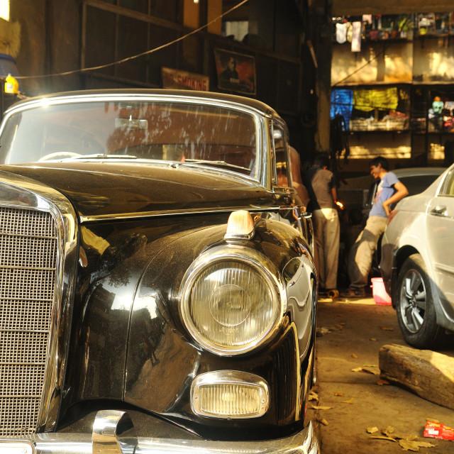 """Mercedes in Mumbai 2"" stock image"