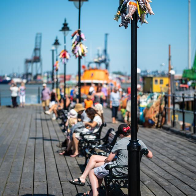 """Sunny Days on Ha penny Pier"" stock image"