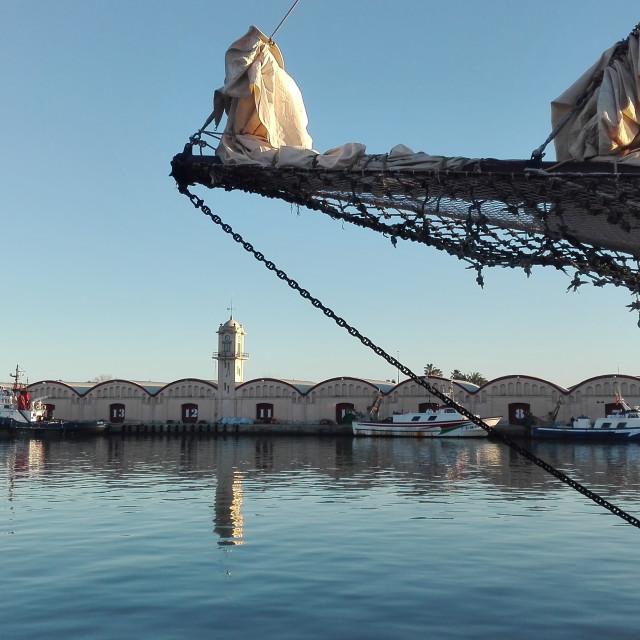 """""""Gandia Fishing Port"""" stock image"""