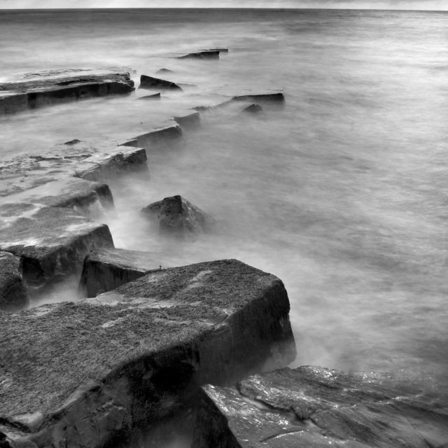 """Cloudy day at Kimmeridge"" stock image"
