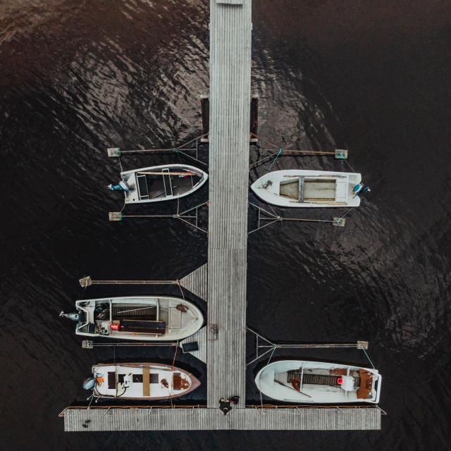 """Boats at a Jetty"" stock image"